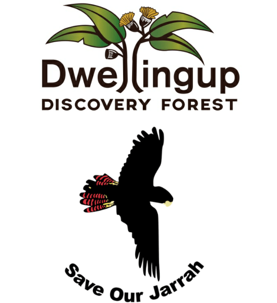 Jarrahdale Forest Protectors Dwellingup Discovery Forest Defenders logos combn HikeWest